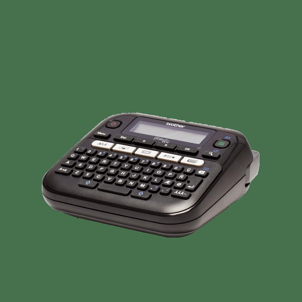 12 mm Nero//Bianco TZE231 Nastro Laminato Etichettatrice Desktop Professionale con Display Fino a 12 mm Brother PT-D210