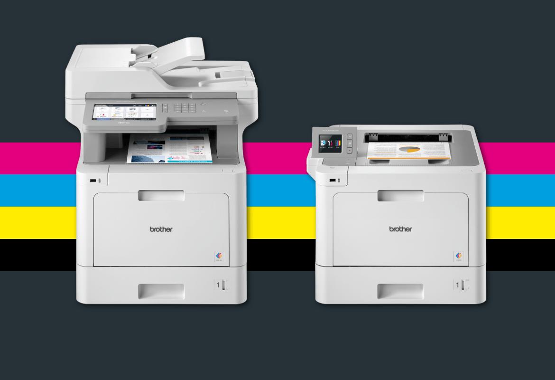 Stampanti e multifunzione laser a colori Brother serie L8000 e L9000