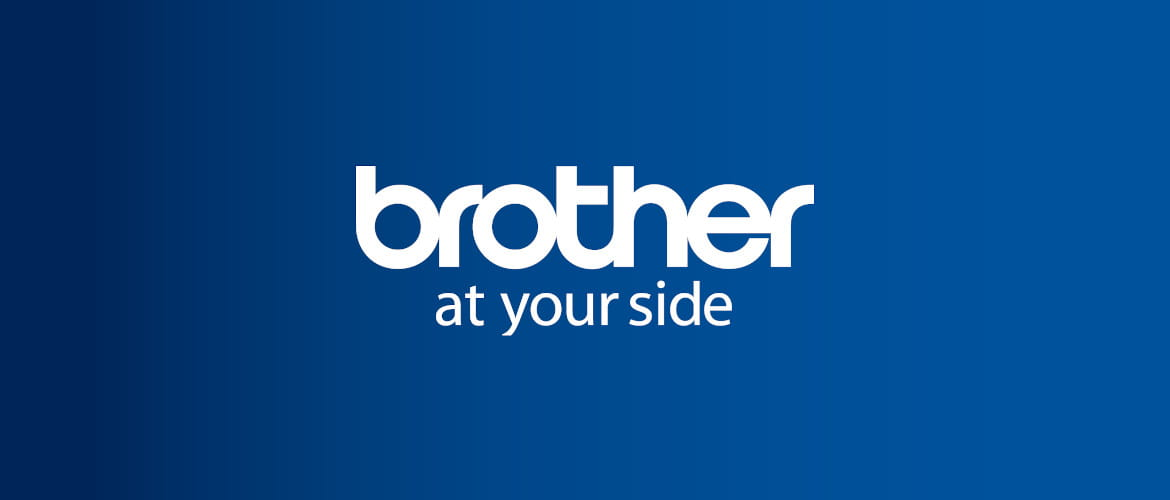 logo Brother at your side su sfondo blu
