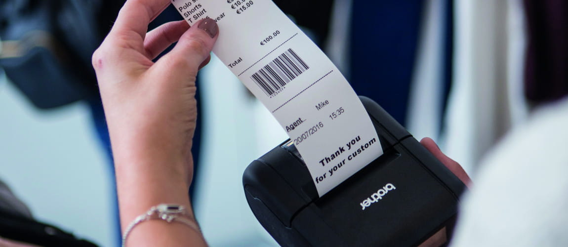Stampante di etichette e ricevute Brother gamma RJ
