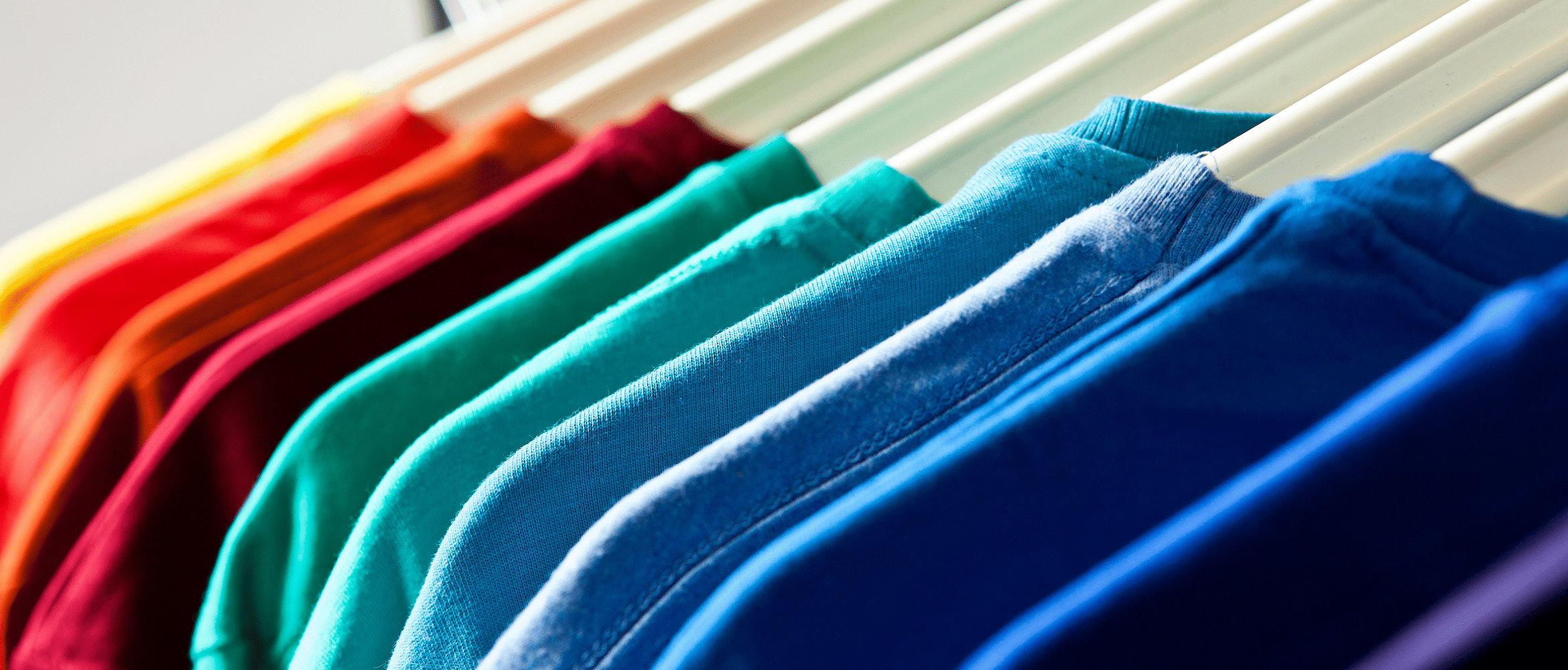 Retail tshirts different colours