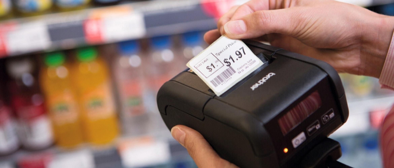 etichettatrice rj per negozi e scaffali