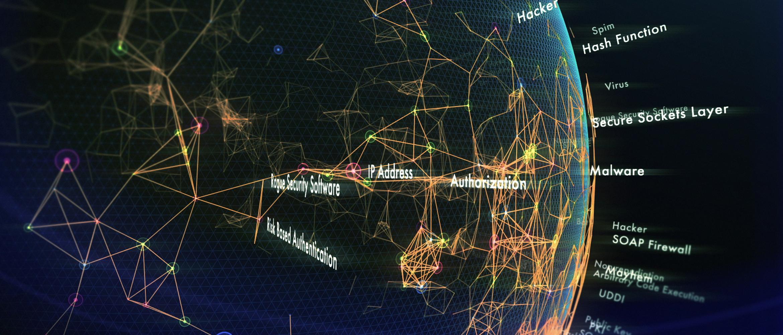 Dati digitali viaggiano attraverso il globo terrestre