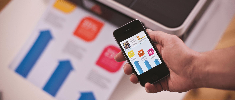 applicazione iphone per effettuare stampa e scansione mobile