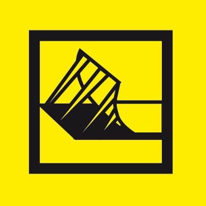 Logo giallo per adesivo rinforzato per etichette P-touch Brother