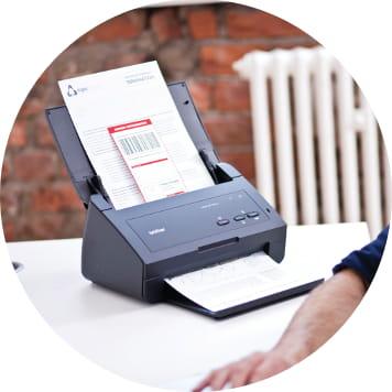 Foglio scannerizzato con scanner Brother ADS-2100e