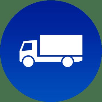 Icona camion da spedizione