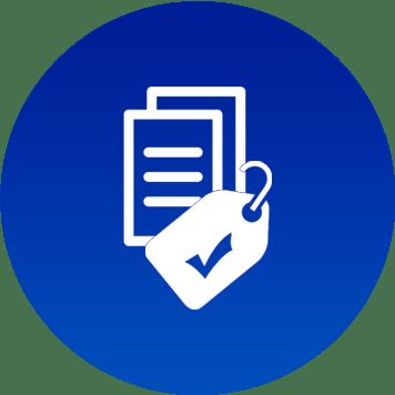 Logo blu per costo copia certo