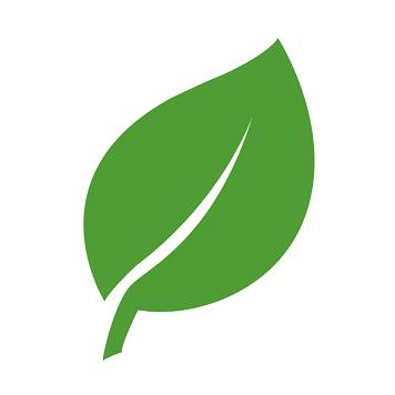 Icona di una foglia verde