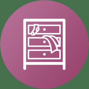 Icona mobile con cassetti
