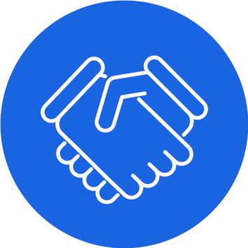 icona stretta di mani per check up gratuito