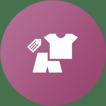 Icona con maglietta e pantaloncino