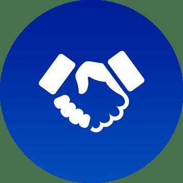 Icona mani per consulenza strategica su servizio di stampa gestita