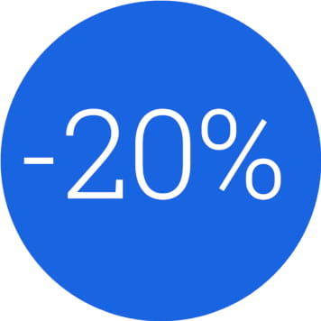 icona risparmio del 20% con le soluzioni Brother