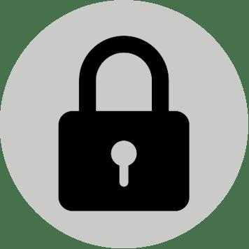Icona sicurezza con lucchetto