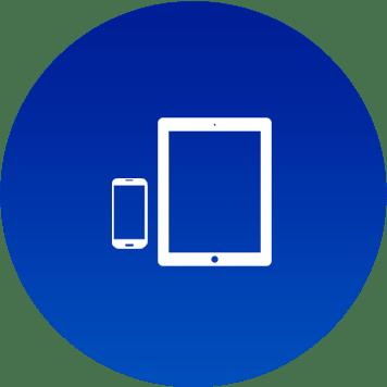 Icona con simbolo smartphone e tablet
