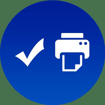 Icon tecnologia di serie delle stampanti