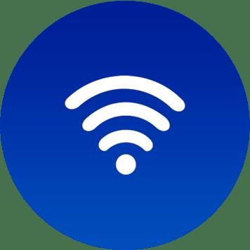 Icona WiFi su sfondo blu