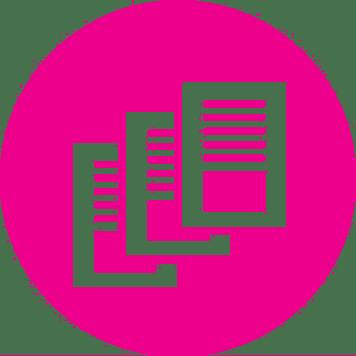 Icona fogli stampati