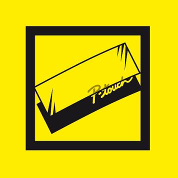 Logo giallo etichetta laminata per etichette P-touch Brother