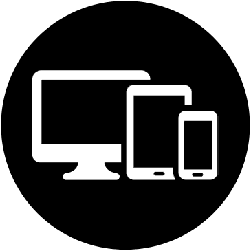 Icona compatibilità PC, tablet e smartphone