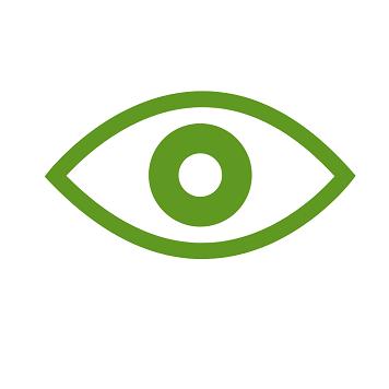 Icona occhio verde