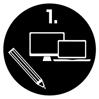 Logo con matita, pc e laptop