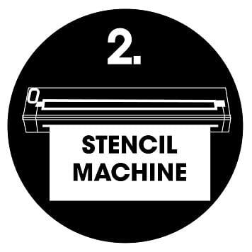 Logo stencil machine Brother PJ gamma 700 stilizzata
