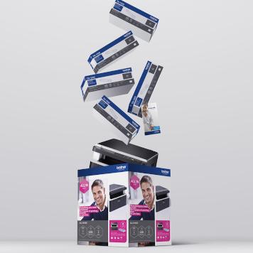 Stampante inkjet Brother con logo All-in-box