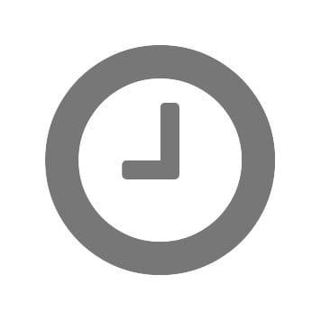 Simbolo orologio grigio per produttività