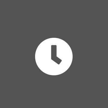 Icona orologio su sfondo grigio