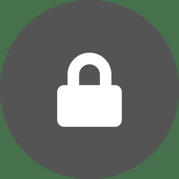 Icona lucchetto sicurezza su sfondo grigio
