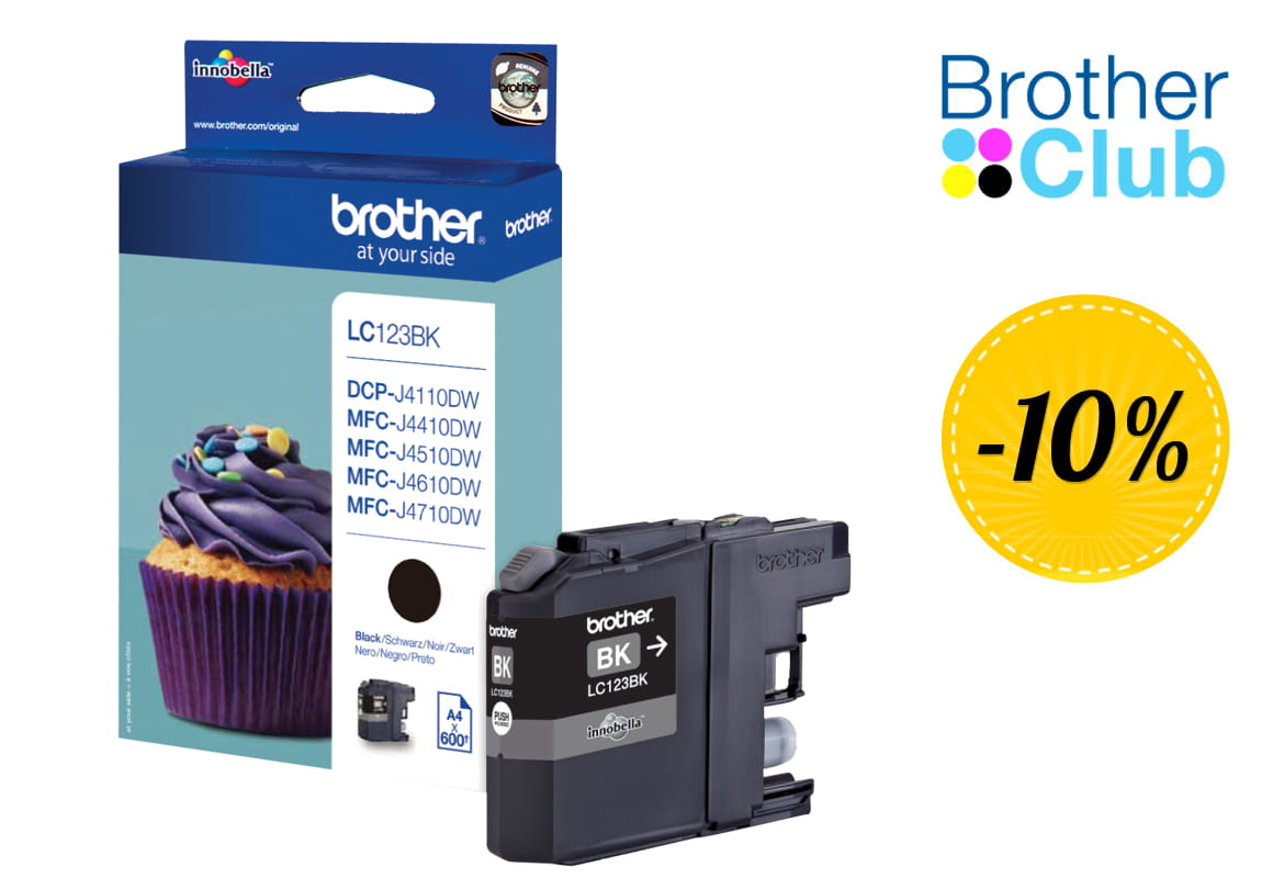 Cartuccia inkjet Brother LC-123BK con sconto Brother Club 10%