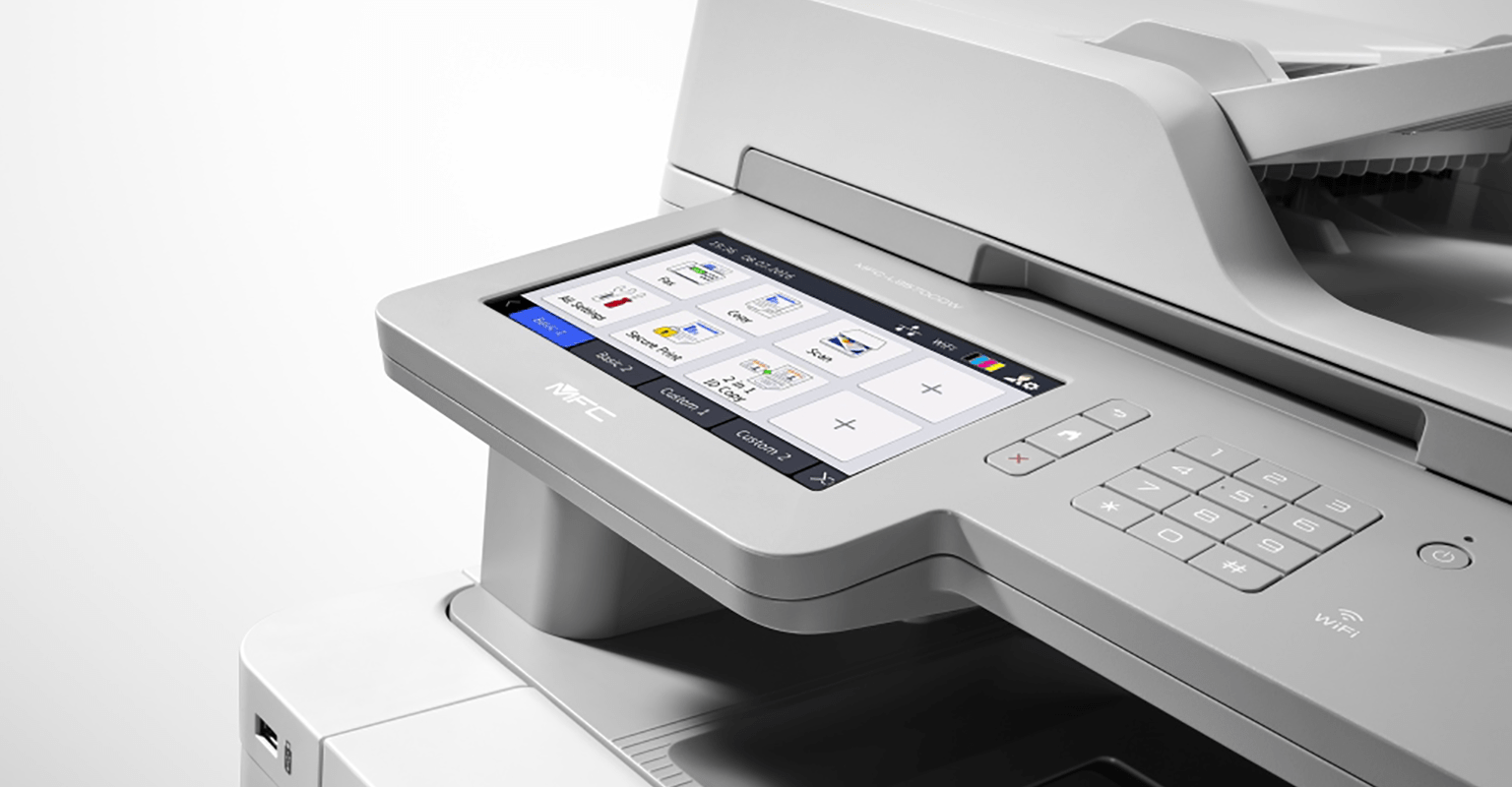 Closeup of Brother BC4 printer