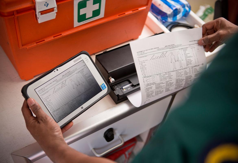 Cure mediche stampante con una stampante PJ