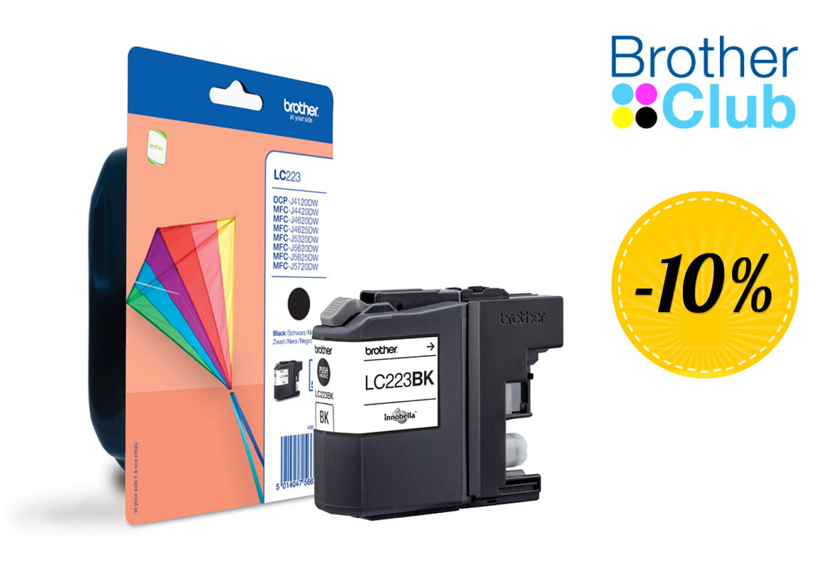 Cartuccia inkjet Brother LC223BK in sconto con Brother Club