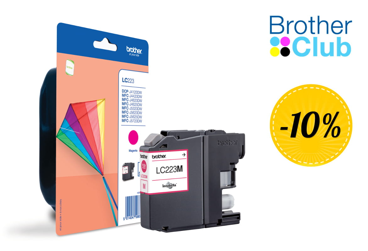 Cartuccia inkjet Brother LC-223M con sconto Brother Club