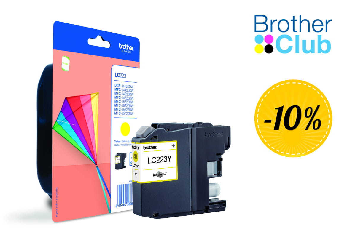 Cartuccia inkjet giallo Brother LC-223Y con sconto Brother Club