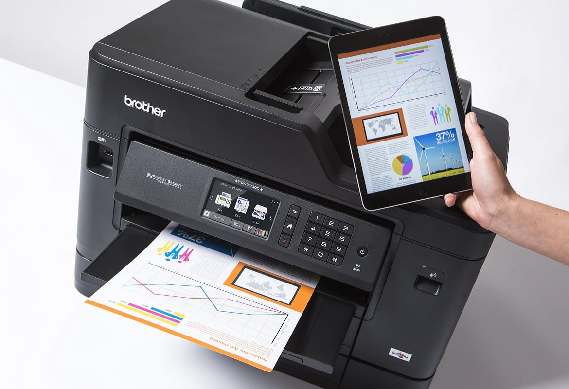 Stampa da tablet con stampante multifunzione inkjet Brother MFC-J5730DW