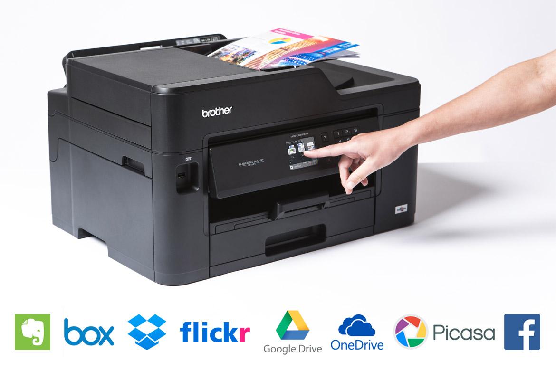 Stampa e scansione da cloud e servizi online con stampante multifunzione Brother MFC-JDW