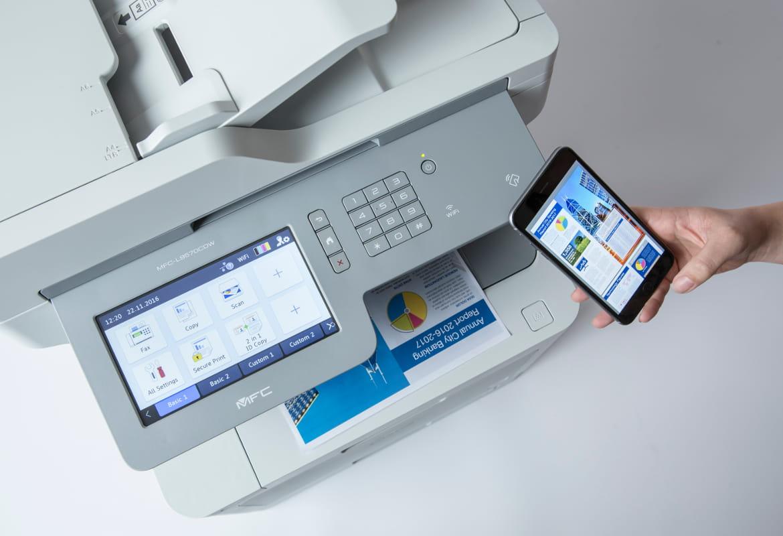Stampa da smartphone con stampante multifunzione laser a colori Brother MFC-L9570CDW