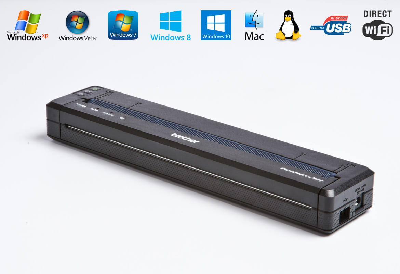 Stampante portatile Brother PJ-773 con loghi funzionalità