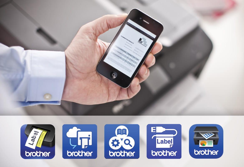 Stampa da smartphone con loghi App mobile Brother