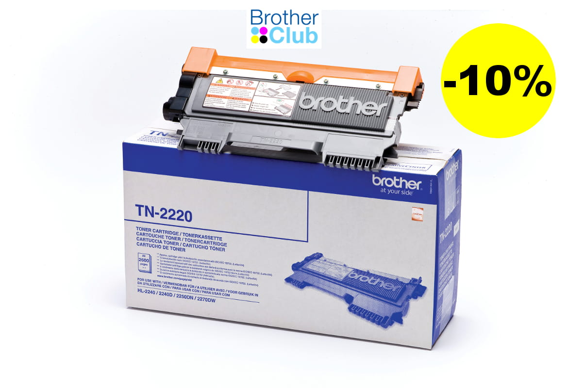 Toner Brother TN-2220 con Brother Club