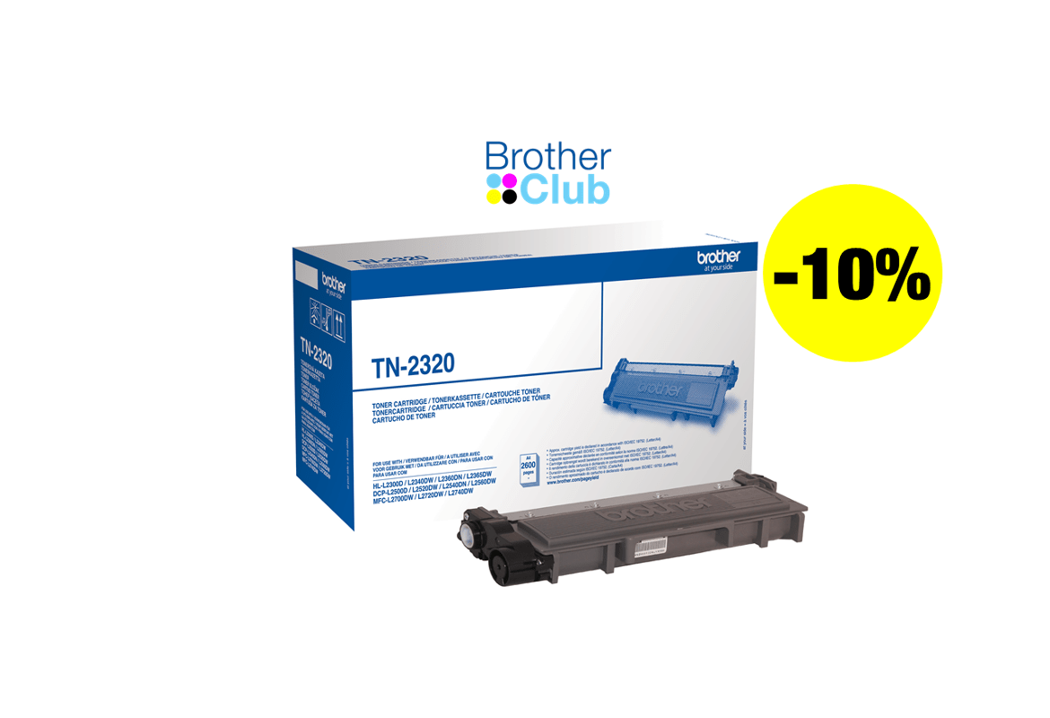 Toner Brother TN-2320 con Brother Club