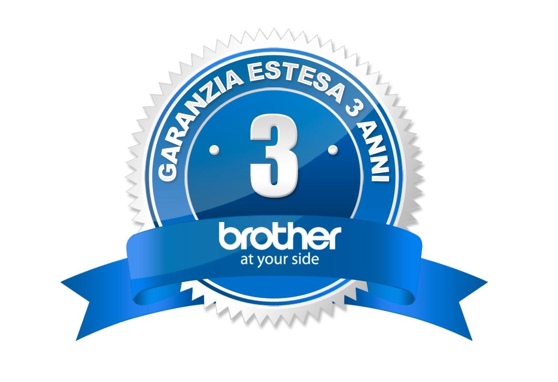 Logo Brother Garanzia estesa 3 anni con registrazione prodotto
