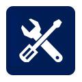 icona con cacciavite e tenaglia per impiantistica