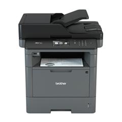Stampante multifunzione laser monocromatica Brother MFC-L5700DN con foglio stampato