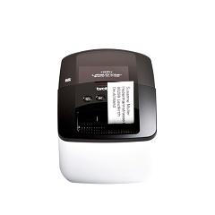 Stampante per etichette wireless Brother QL710W con etichetta stampata