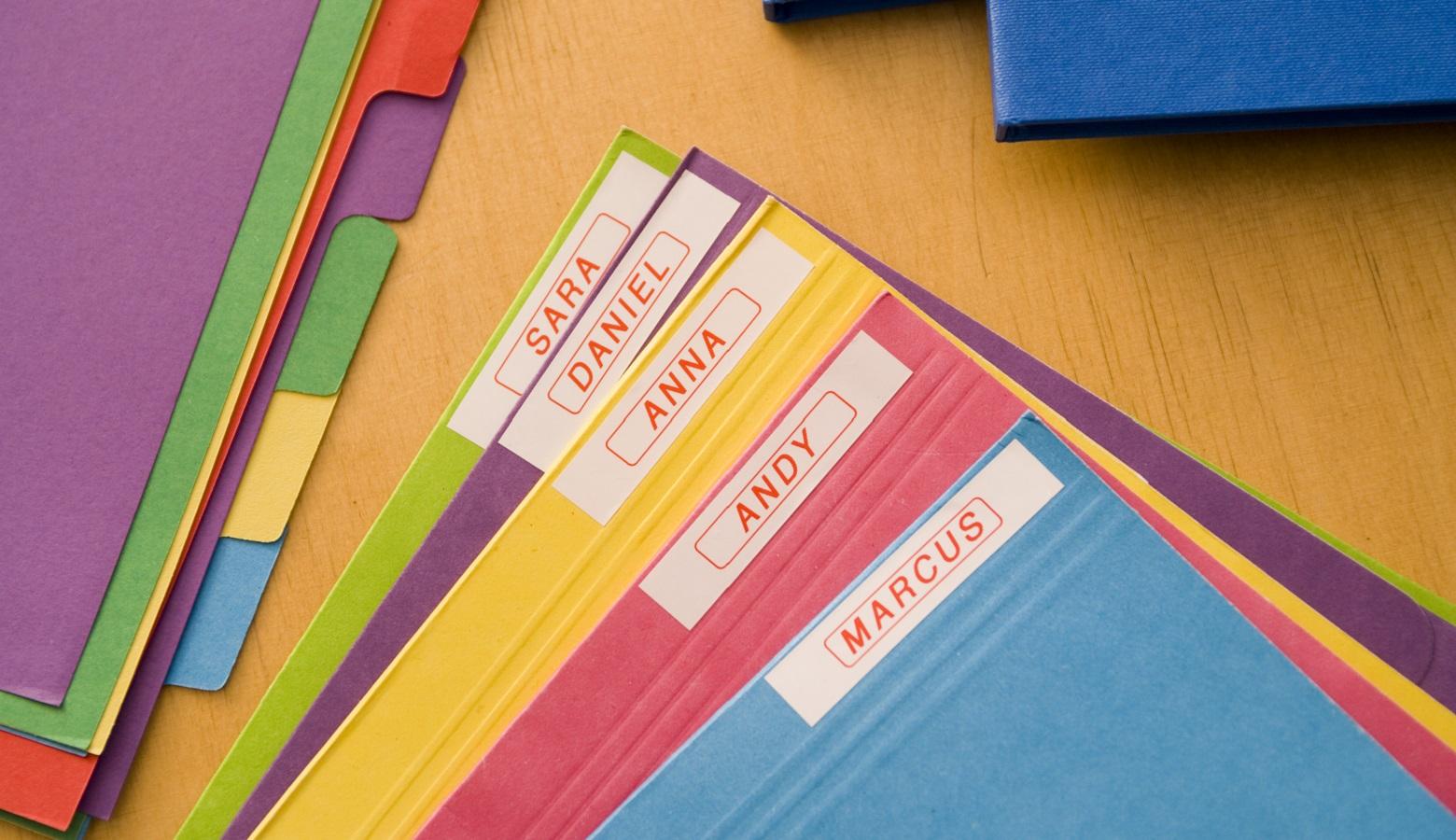 Quaderni etichettati con etichettatrice Brother